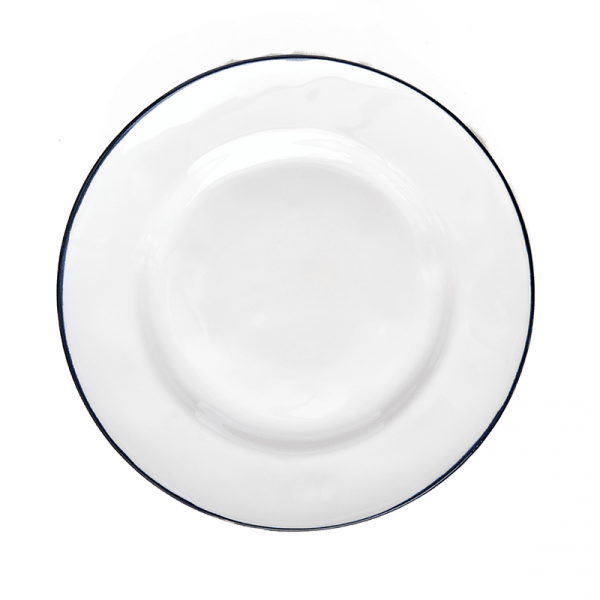 White Costa Nova Beja Salad Plates, set of 6