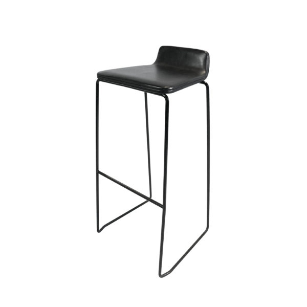 Dao Lacquered Metal Bar Stool