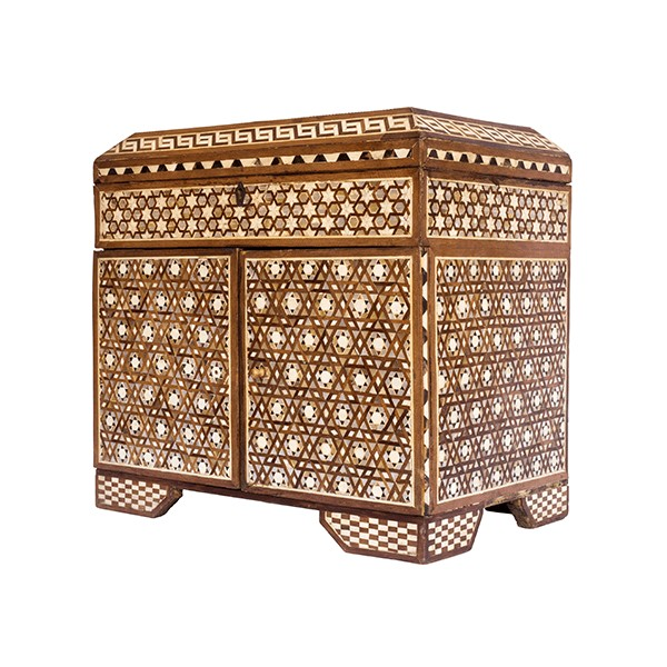 Jnane Tamsna Small Wood and Mother of Pearl Moroccan Cabinet