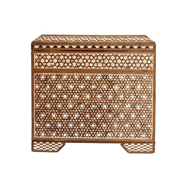 Small Wood and Mother of Pearl Moroccan Cabinet