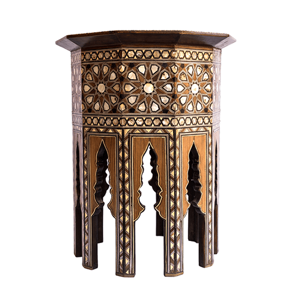 Set of 2 Syrian Tables Mother-of-Pearl Inlaid