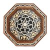 Inlaid in Carved Wood Syrian Side Tables, Set of 2