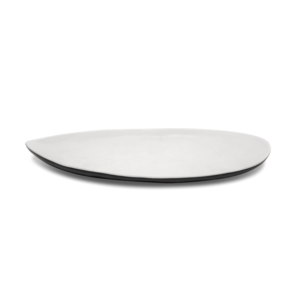 White Leaf Melamine Plates, Set of 10
