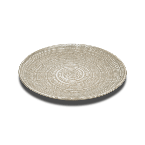 Oatmeal Glaze Japanese Dinner Plates, Set of 3