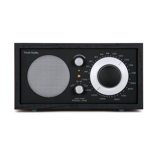 Black Ash and Silver Tivoli Clock Radio One
