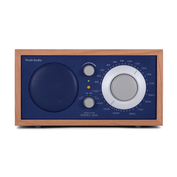 Cherry and Cobalt Blue Tivoli Clock Radio One