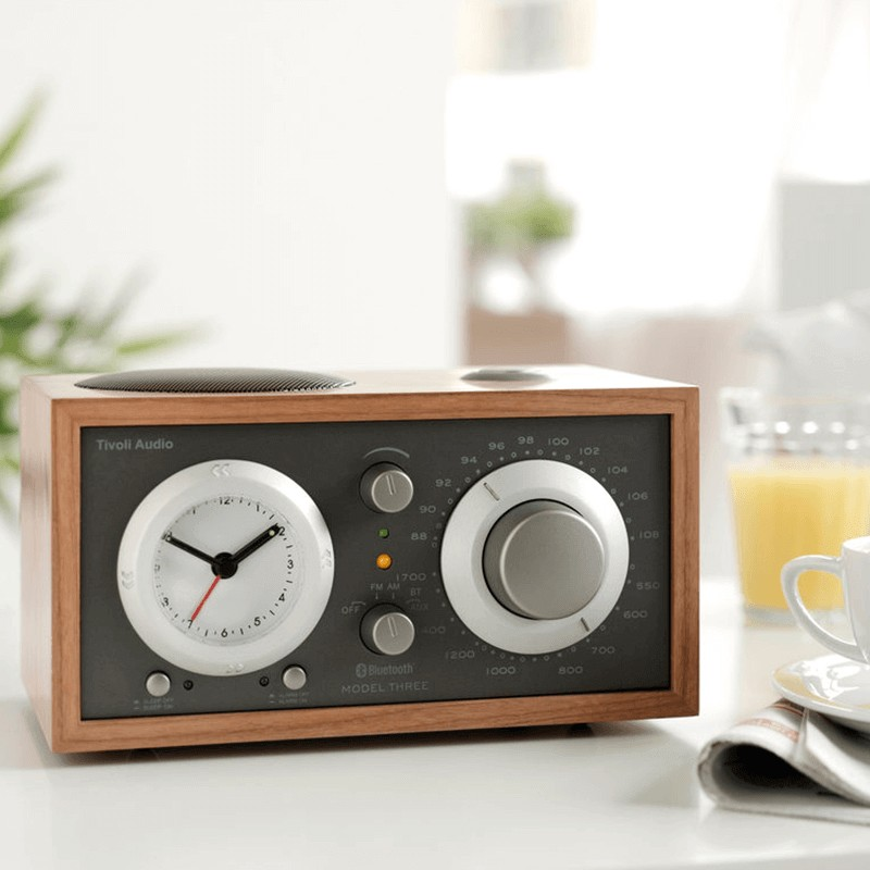 Cherry Metallic Taupe Tivoli Audio Model Three BT Clock Radio