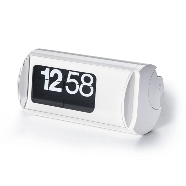 White Solari Cifra 3 Design Clock