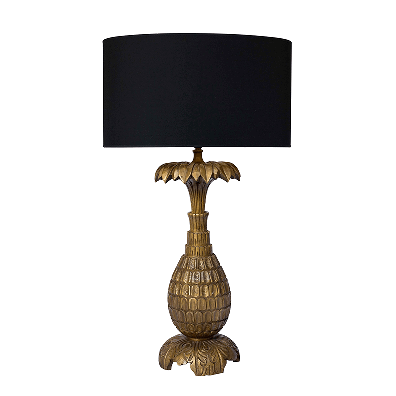 Large Gold Pineapple Lamp