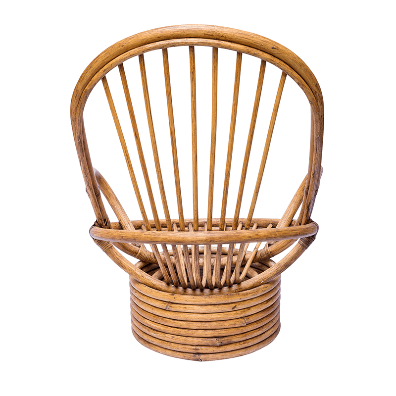 Handmade Moroccan Rattan Rocking Chair
