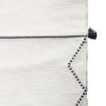 Black and White Moroccan Throw