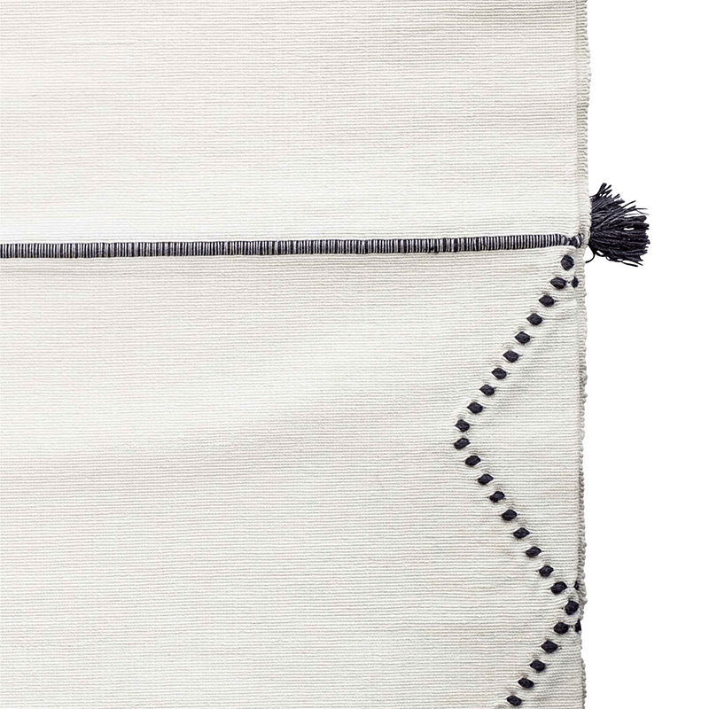 Black and White Handmade Moroccan Throw