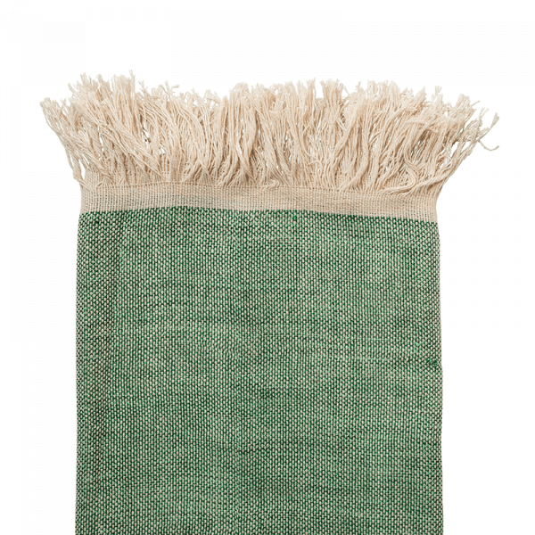 El Fenn Light Green Moroccan Handwoven Throw