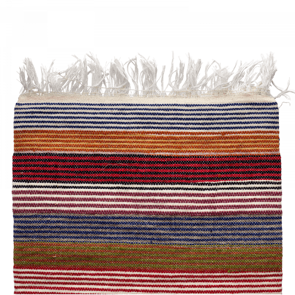 Multi-coloured Striped Wool Blanket