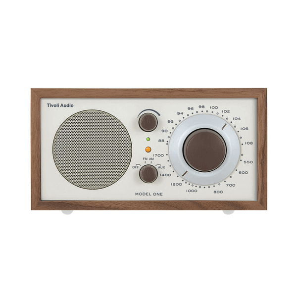 Walnut and Beige Tivoli Clock Radio One