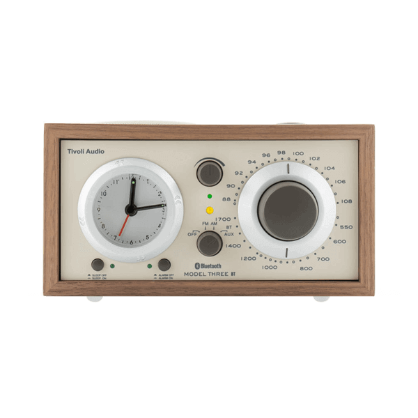 Walnut and Beige Tivoli Three BT Clock Radio