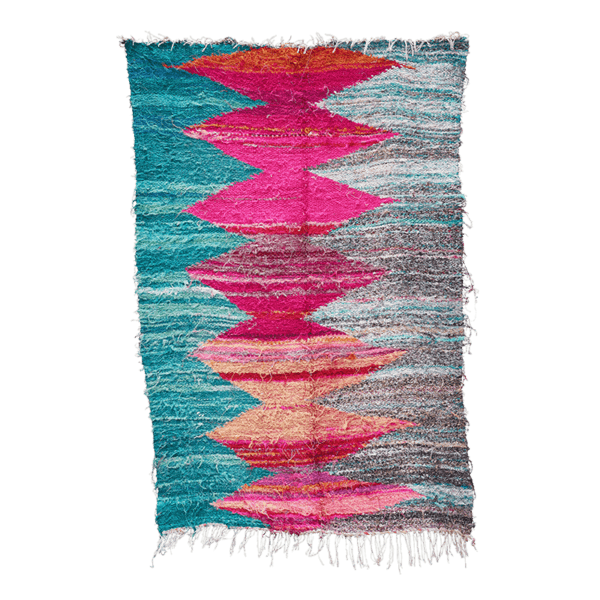 Multi-Coloured Boucherouite Rug