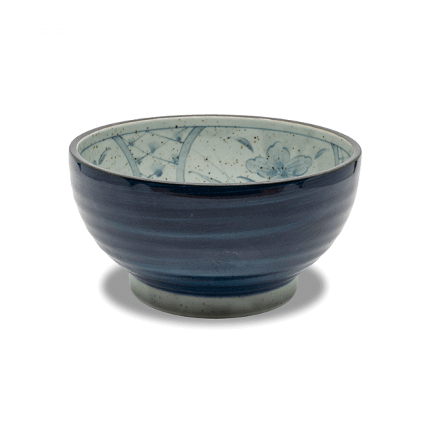 Blue Flower Bowls, Set of 4