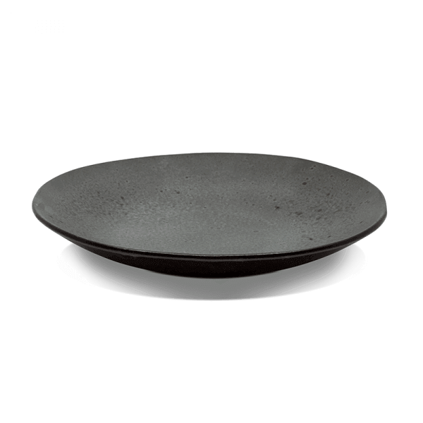 Dark Brown Minerale Coupe Plate