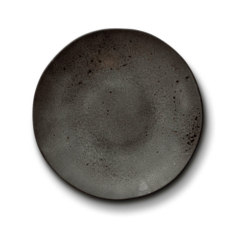 Dark Brown Minerale Dinner Plate