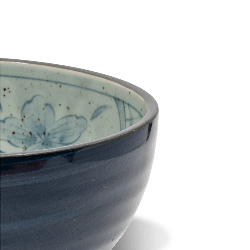 108 Garage Blue Flower Bowls, Set of 4