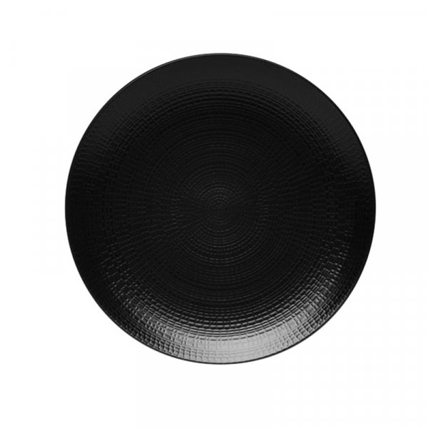 Modulo Nature Black Round Dinner Plate, Set of 6
