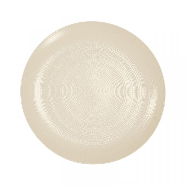 Frenchie Modulo Nature Kaolin Round Bread Plate, Set of 6
