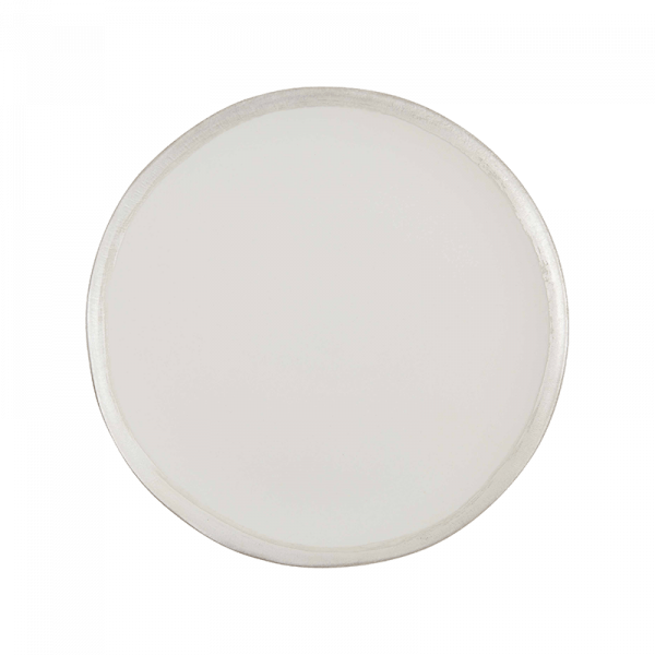 108 Garage Cream and Silver Dinner Plate