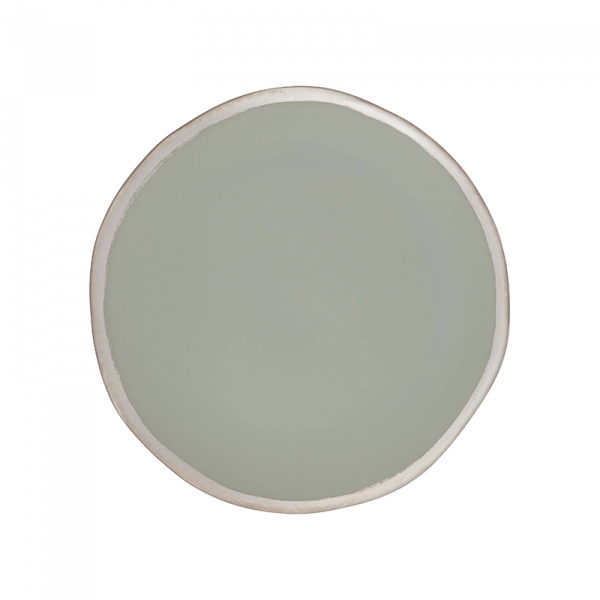 108 Garage Grey with Contrast Rim Ceramic Dinner Plate