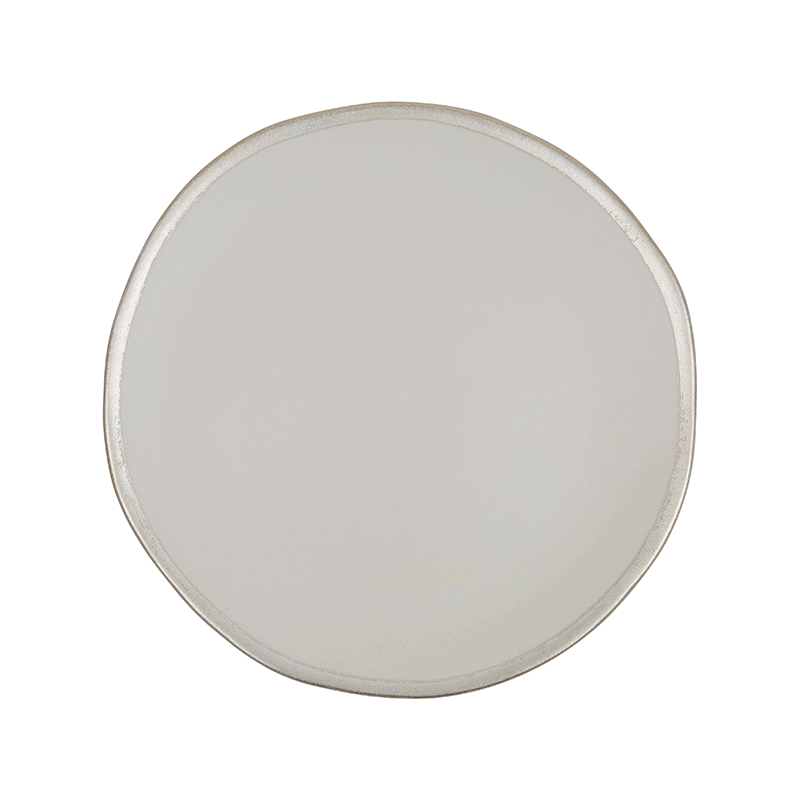 108 Garage Cream and Silver Side Plate