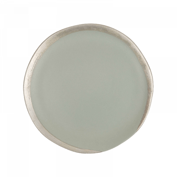 Grey with Contrast Rim Ceramic Side Plate