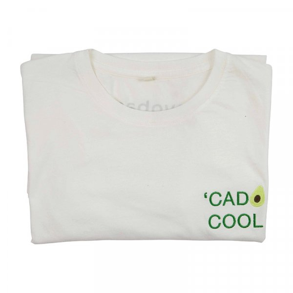 Organic Cotton 'cado Cool T-shirt in White
