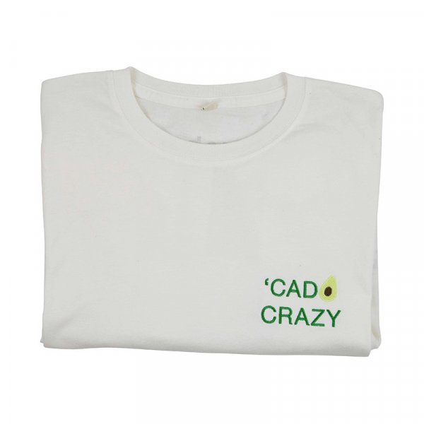 'cado Crazy Organic Cotton T-shirt in White