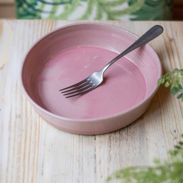 Avobar Pink and White Terracotta Deep Plates, Set of 4 or 6