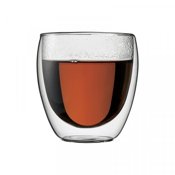 Bodum Pavina Double Walled Glass Espresso Cups, Set of 2 or 6