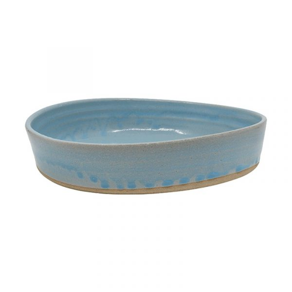 Blue and White Terracotta Deep Plates, Set of 4 or 6