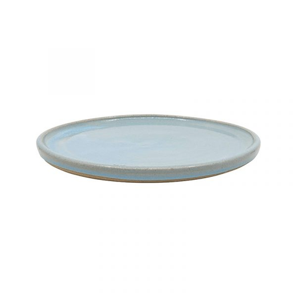 Small Blue Terracotta Plates, Set of 4 or 6