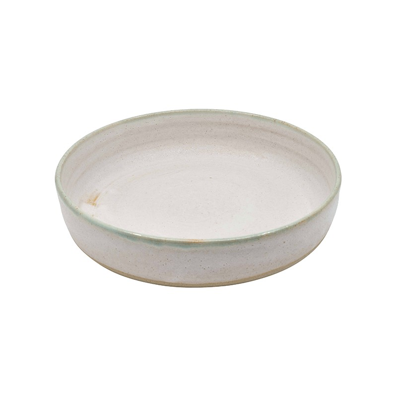Mint and White Terracotta Deep Plates, Set of 4 or 6
