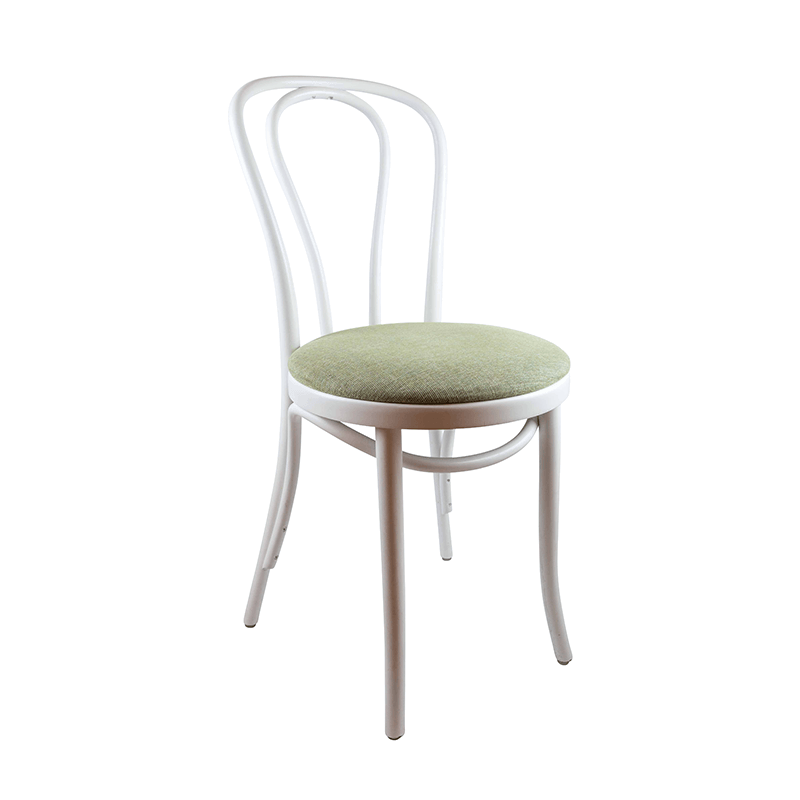White Wooden Dining Chairs, Set of 2