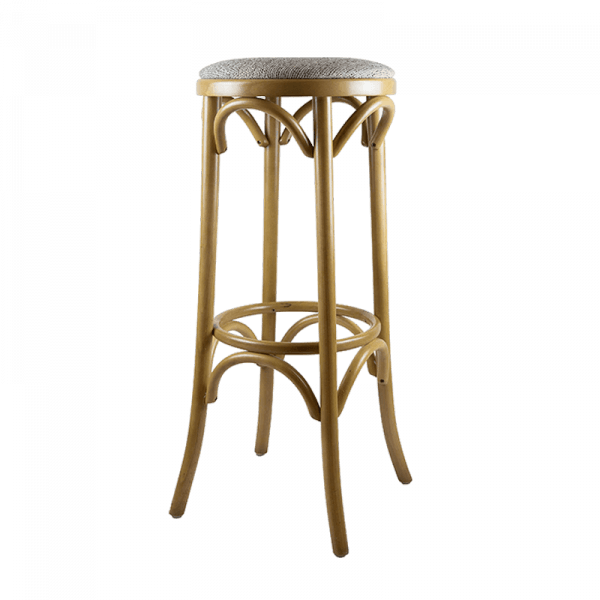 Wooden Bar Stools, Set of 2