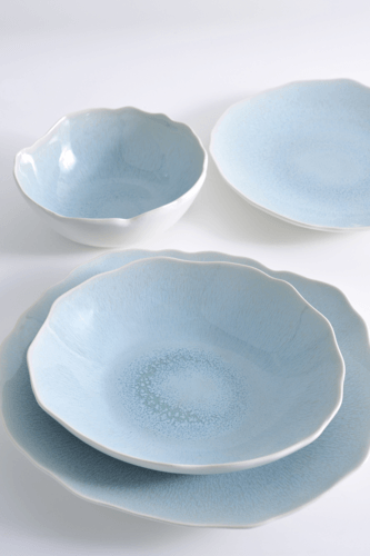 108 Garage Jars Handmade Ceramic Dinner Plate in Blue