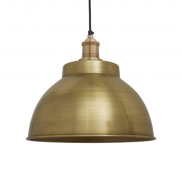 Brooklyn Brass 13 Inch Dome Pendant Light