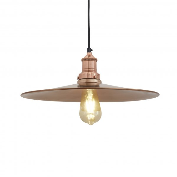 Brooklyn Flat Copper Pendant Light