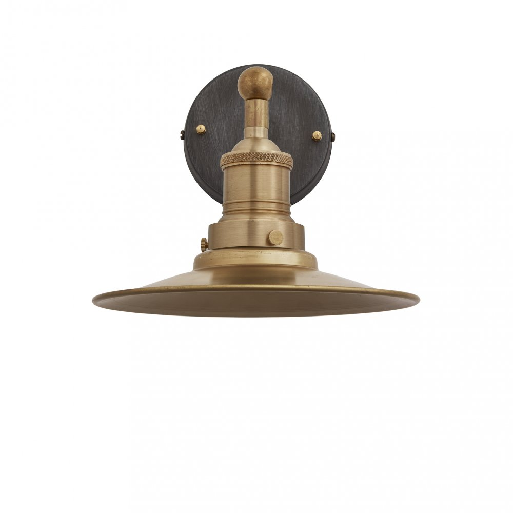 Brooklyn Flat Brass 8 Inch Wall Light