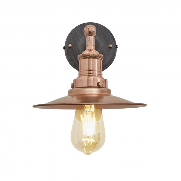 Brooklyn Flat Copper 8 Inch Wall Light
