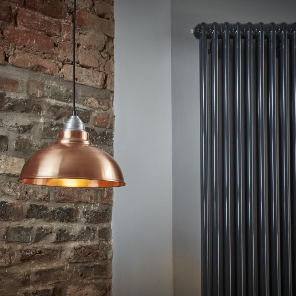 Old Factory Copper 12 Inch Pendant Light
