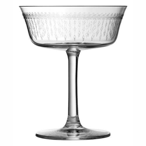 St. James Vintage Style Fizzio 1920 Coupe Glass, Set of 6