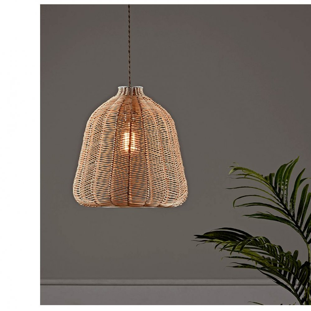 Rattan Chevron Light Shade