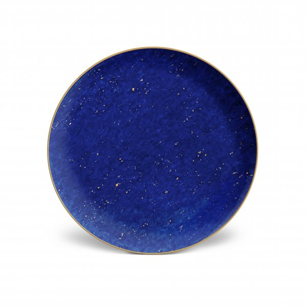 Lapis and Gold Dessert Plates, Set of 4