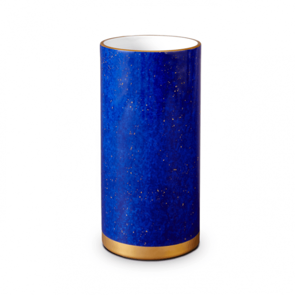 Lapis Vase with Hand-Gilded 24K Gold